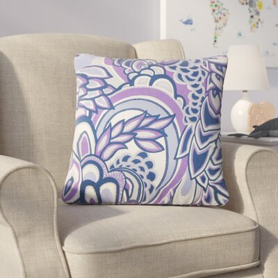 Armistead Floral Cotton Throw Pillow Color: Plum