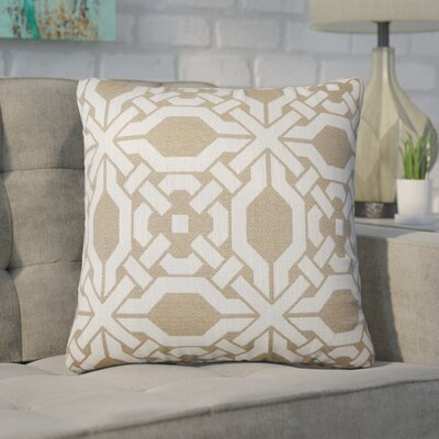 Zorya Geometric Throw Pillow Color: Wicker