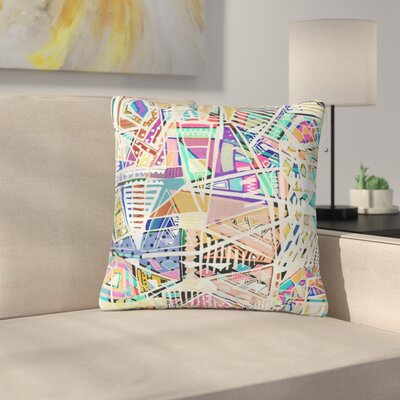 Vasare Nar Abstract Geometric Playground Outdoor Throw Pillow Size: 18 H x 18 W x 5 D