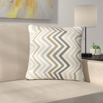 Mays Chevron Square Outdoor Throw Pillow