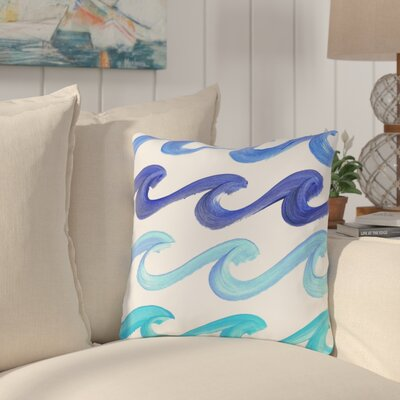 Reversible Lorrie Wave Rider Throw Pillow Size: 18 H x 18 W x 3 D