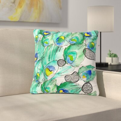 Danii Pollehn Peacockcell Animals Outdoor Throw Pillow Size: 16 H x 16 W x 5 D