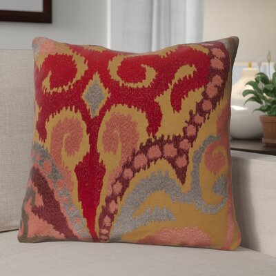 Claysburg Throw Pillow Color: Brown / Orange, Fill Material: Polyester