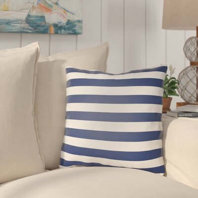 Ghent Stripe Indoor/Outdoor Throw Pillow Size: 18 H x 18 W x 3.5 D, Color: Dark Blue