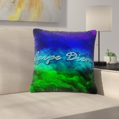 Shirlei Patricia Muniz Carpe Diem Digital Outdoor Throw Pillow Size: 18 H x 18 W x 5 D