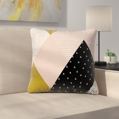 Geometric Pillow Cover with Zipper Size: 24 x 24