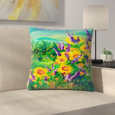 Sunshine Taylor Sunflower Fields Forever Indoor/Outdoor Throw Pillow Size: 14 x 14