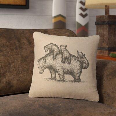Nakashima Mama Bear Throw Pillow Color: Natural