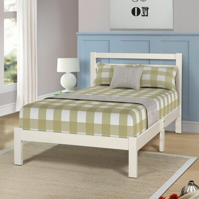 Etter Twin Platform Bed Color: White