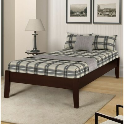Etting Twin Platform Bed Color: Dark Coffee