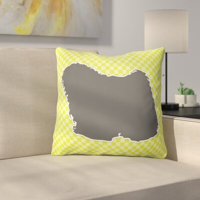 Puli Indoor/Outdoor Throw Pillow Size: 18 H x 18 W x 3 D, Color: Green