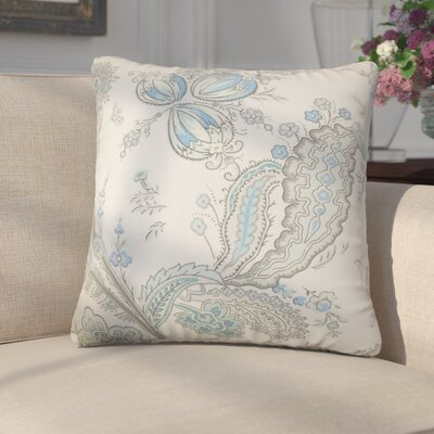 Alberto Floral Cotton Throw Pillow Color: Blue