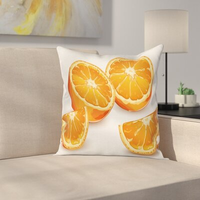 Citrus Art Cushion Pillow Cover Size: 24 x 24