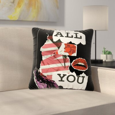 Jina Ninjjaga Poster Outdoor Throw Pillow Size: 16 H x 16 W x 5 D