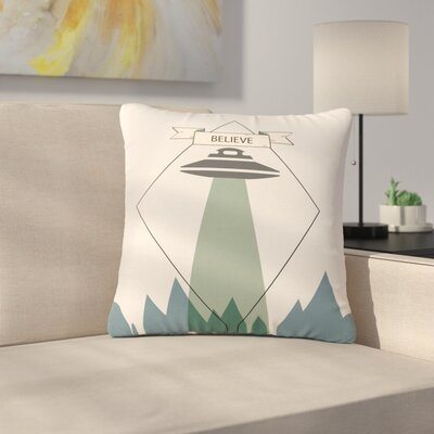 Alias Believe Geometric Outdoor Throw Pillow Size: 18