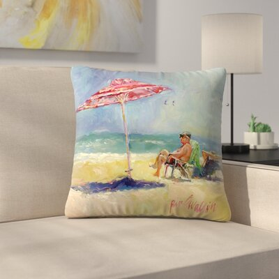 Maderabeach Throw Pillow Size: 14 x 14