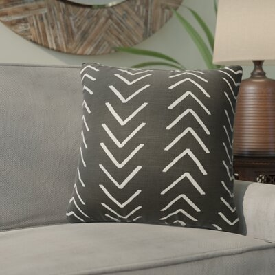Bemelle Mud Cloth Throw Pillow with Double Sided Print Size: 16 H x 16 W, Color: Black/ Ivory