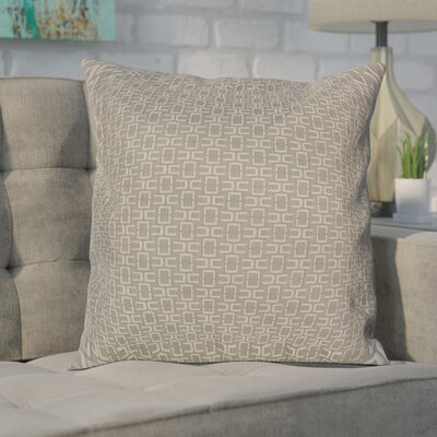 Alvaro Caper Woven Decorative Pillow Cover Color: Grey