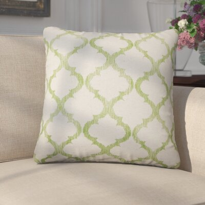 Griselde Geometric Cotton Throw Pillow Color: Palm