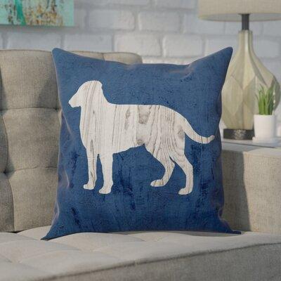 Norvell Rustic Dog Love Denim Throw Pillow
