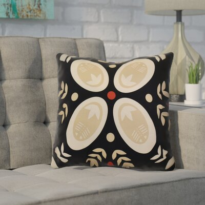 Mazee Decorative Holiday Geometric Print Outdoor Throw Pillow Size: 18 H x 18 W, Color: Black