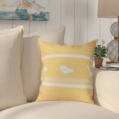 Hancock Birdwalk Animal Print Outdoor Throw Pillow Size: 20 H x 20 W, Color: Yellow