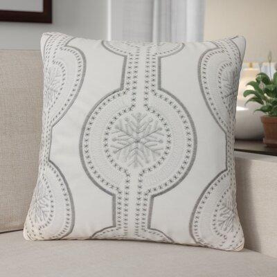 Holiday Velvet Throw Pillow Color: White