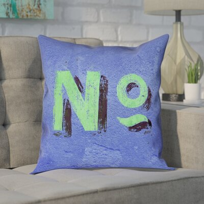 Enciso Graphic Wall 100% Cotton Pillow Cover Size: 16 x 16, Color: Blue/Green