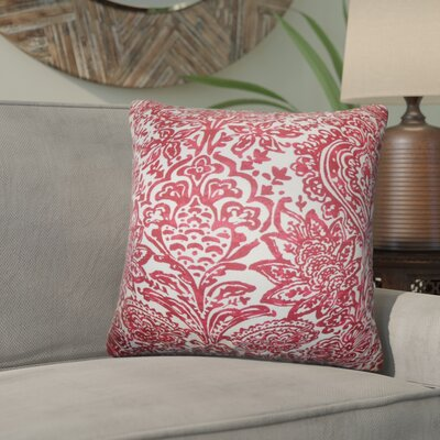 Kenzo Floral Cotton Throw Pillow Color: Red