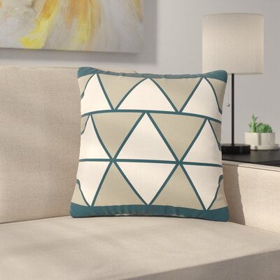NL designs Sandstone Triangles Geometric Outdoor Throw Pillow Size: 16 H x 16 W x 5 D