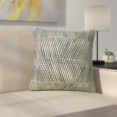 Roybal Geometric Cotton Throw Pillow Color: Dew