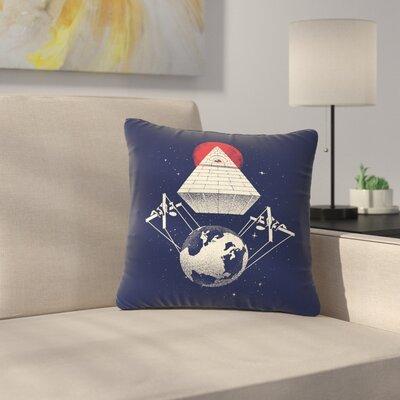 Digital Carbine under Control Digital Outdoor Throw Pillow Size: 18 H x 18 W x 5 D