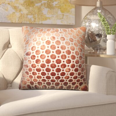 Maeve Geometric Cotton Throw Pillow Cover Color: Copper