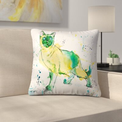 Siamese Cat Throw Pillow Size: 16 x 16
