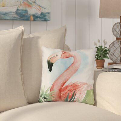 Kingsgate Watercolor Flamingo Composition Throw Pillow