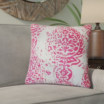 Titan Ikat Cotton Throw Pillow Color: Pink