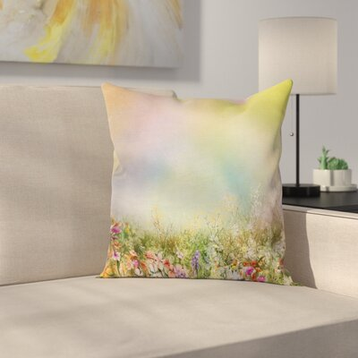 Spring Flower Nature Square Pillow Cover Size: 20 x 20