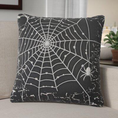 Spider Web 100% Cotton Throw Pillow