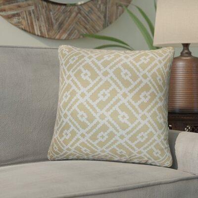Kyara Geometric Cotton Throw Pillow Color: Sand