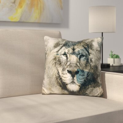 Lion Camouflage Throw Pillow
