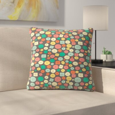The Other Buttons Throw Pillow Size: 16 x 16