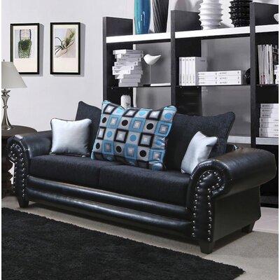 Fresquez Sofa Upholstery: Delray Black/Tudor Blue/Shimmer Silver