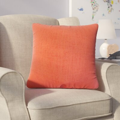 Helton Solid Throw Pillow Color: Orange