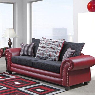 Fresquez Sofa Upholstery: Bravo Red/Delray Black/Echo Lava/Vera Lava