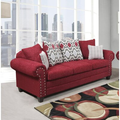 Nathans Sofa Color: Home Run Red