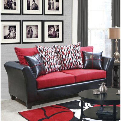 Forese Sofa Upholstery: Denver Black/Victory Cardinal