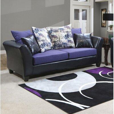 Forese Sofa Upholstery: Denver Black/Jitterbug Amethyst