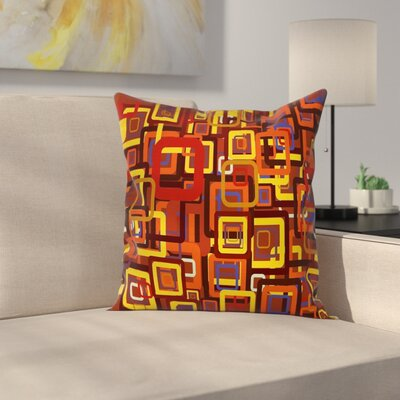 Trippy Cushion Pillow Cover Size: 24 x 24