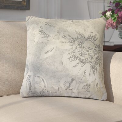 Cici Modern Floral Down Filled 100% Cotton Throw Pillow Size: 22 x 22