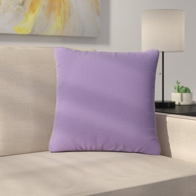 Maynor Square Indoor/Outdoor Throw Pillow Color: Purple